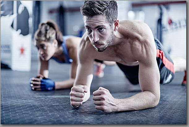 Fitness athletes training